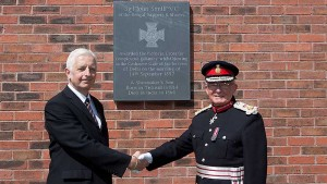 Memorial Plaque for Sgt John Smith VC Unveiled