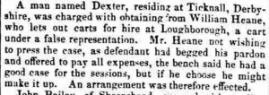 1842-12-10 Liecester Chronicle (extract) - Dexter