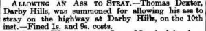 1887-02-23 Derby Daily Telegraph (extract) - Thomas Dexter