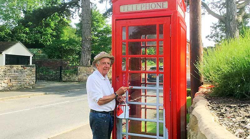 Ticknall Phone Box Repainted