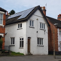 Gable end to road